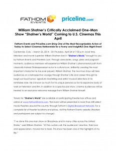 Shatner's World Press Release FINAL